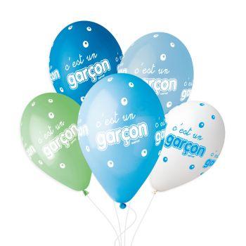 5 Ballons ist ein Junge Ø33cm