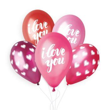 5 luftballon Herz I Love you Ø33cm
