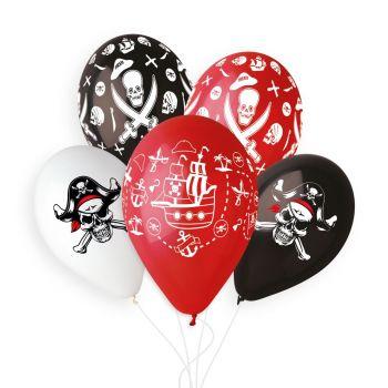 5 luftballon Piraten Ø33cm