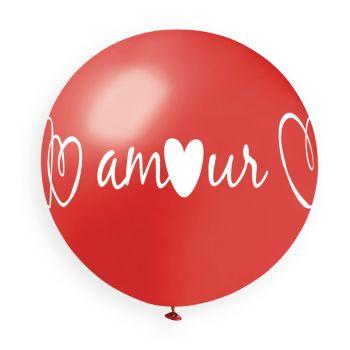 1 Riesiges Herz-Liebesballon Ø80cm