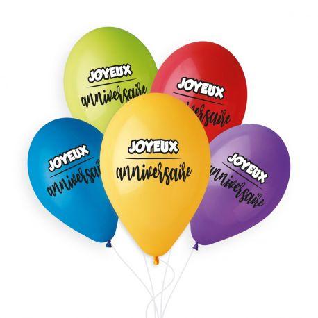 Beutel mit 50 Latex-Ballons passend gelb, blau, grün, rot und lila mit Druck Frohe Weihnachten weiß und schwarz!Ø 33cm
