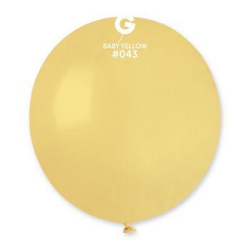 10 Ballons gelb Pastell Ø48cm