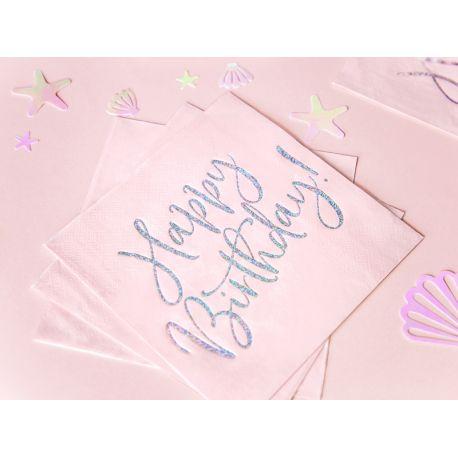 20 rosa Papiertücher mit einer Aufschrift