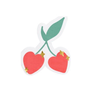20 Handtuch Herz Kirsche