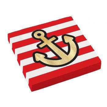 20 Rote servietten Piraten