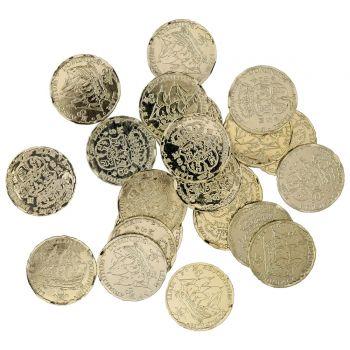 72 Goldmünzen aus Kunststoff