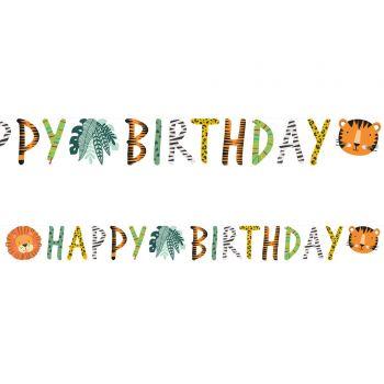 Happy Birthday Banner dschungle Wild