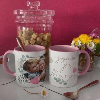 Tasse individuell zweifarbig dekoriert Fröhliche Feiertage Mutter