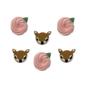 6 Mini Zucker Figuren Damhirschkuh