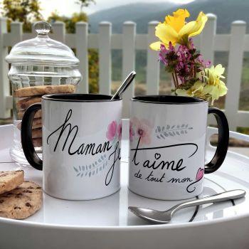 Tasse zweifarbig Mama Ich liebe dich