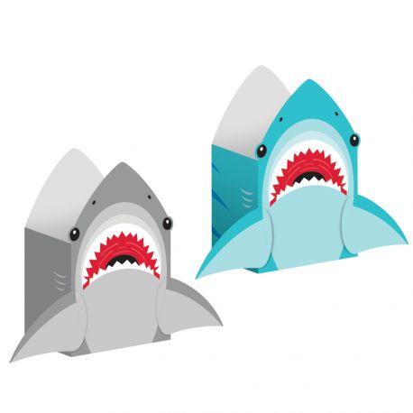8 Beutel Papier Hai ideal für eine schöne GeburtstagstischdekorationAbmessungen: 20 x 11 x 8cm