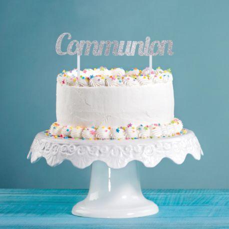 Dekoration glitzernden Kommunion auf Ihrem Geburtstagskuchen zu stechenAbmessungen: 11.4 x 18cm