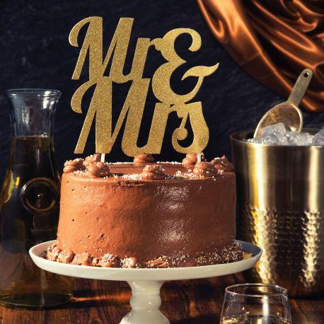 Dekor Frau & Glitzer-Gold auf Ihrem Geburtstagskuchen zu stechenAbmessungen: 18 x 23cm