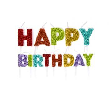 13 Kerze Pics Happy Birthday Regenbogen Glitzer