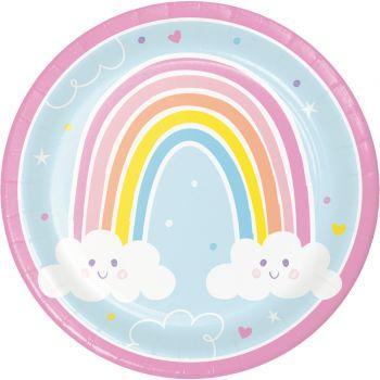 8 Teller regenbogen