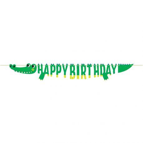 Girlande Happy Birthday Alligator PartyAbmessungen: 1.8 Meter
