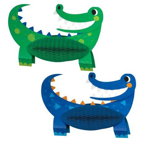 2 Herzstück Tishdeko Alligator-Party, um einen schönen Geburtstagstisch zu dekorierenAbmessungen: 21 x 30cm