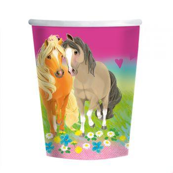8 Becher Pretty Pony