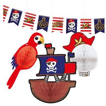Kit Dekorationen Piraten rot