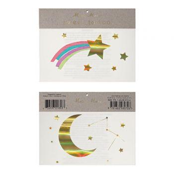 Sternschnuppe Tattoo und regenbogen