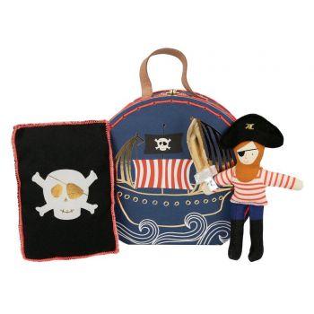 Mini Koffer Plüsch Piraten