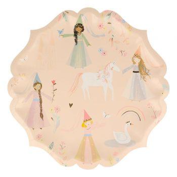 8 Teller Magical Karton Prinzessin