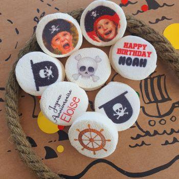 48 Guimize Runde personnalisiert Text Dekoration Piraten