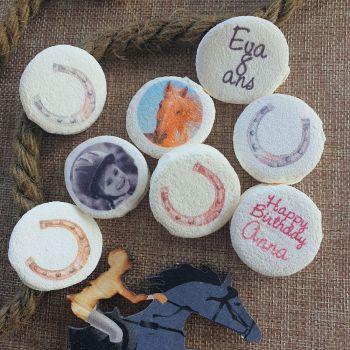 48 Guimize runden personnalisiert Bild dekoriert Hufeisen