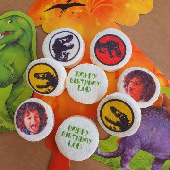 48 Guimize Runde personnalisiert Text Dekoration Dinosaurier