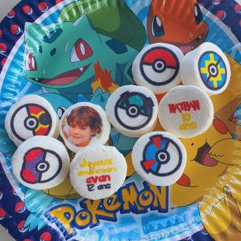 48 Guimize Runde personnalisiert Text Dekoration Pokemon