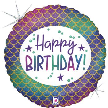 Luftballon Helium Happy Birthday Meerjungfrau