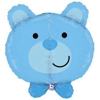Luftballon Bär-Helium Blau