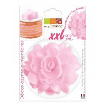 Blume tortenaufleger XXL rosa Scrapcooking