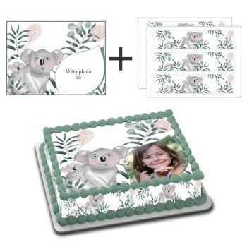 Easycake Kit für Kuchen rechteck personnalisiert Koala
