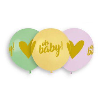 3 Luftballon Oh Baby Ø48cm