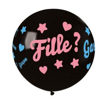 Luftballon Konfetti Mädchen oder Junge Ø80cm