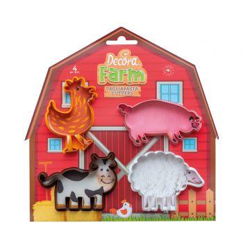 4 4 Stück Tier vom Bauernhof mitnehmen