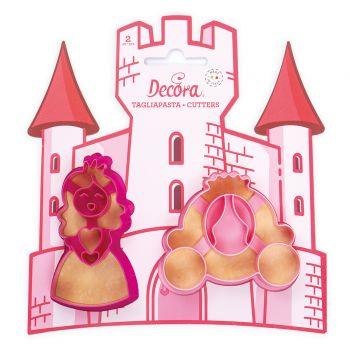 2 Ausstechformen Prinzessin Münze