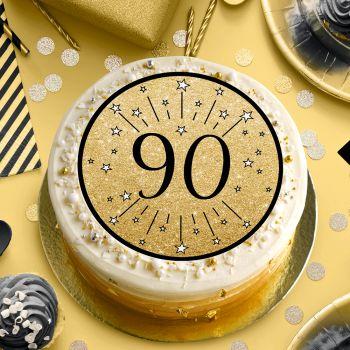 90 Jahre schwarz Zucker Scheibe