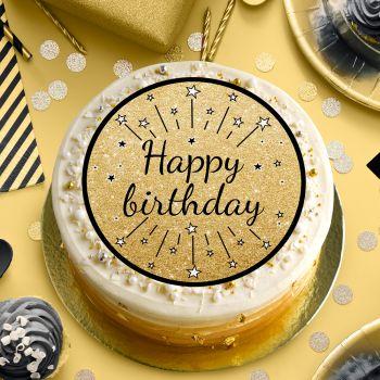 Happy birthday Zucker Scheibe schwarz