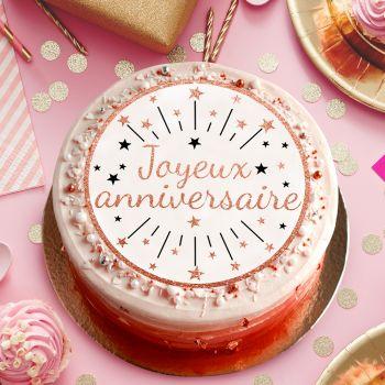 Zucker Platte Happy Birthday gold