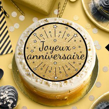 Zucker Platte Happy Birthday Schwarz