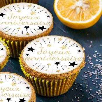 12 Mini tortenaufleger Happy Birthday or