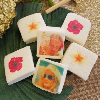 48 Guimize Quadrate personnalisiert Foto Dekoration Blumen von den Inseln
