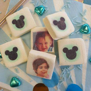 48 Guimize Quadrate personnalisiert Bild-Dekor micky Baby