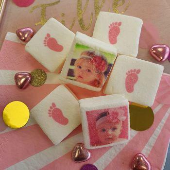 48 Guimize personalisierte Bilder Dekor Füße rosa