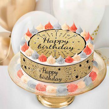 Easycake Kit Happy Birthday Schwarz