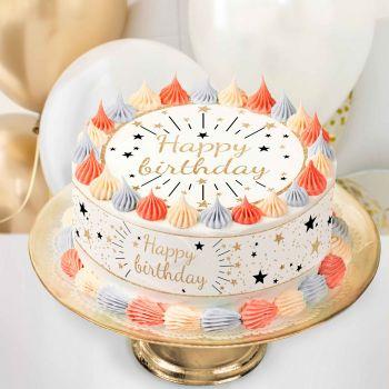 Easycake Kit Happy Birthday Gold