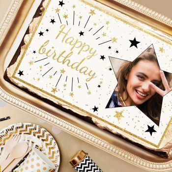 Happy Birthday or A3 Zucker dekorieren zu personalisieren