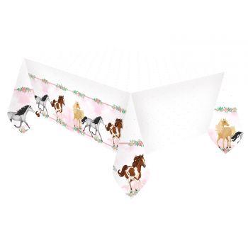 Tischtuch aus blühenden Pferd